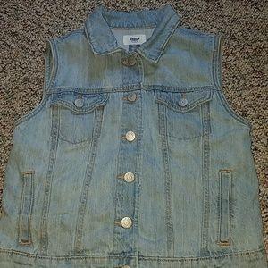 Girls Old Navy jean vest size XL (14)